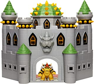 "Nintendo Bowser's Castle Super Mario Deluxe Bowser's Castle Playset with 2.5"" Exclusive Articulated Bowser Action Figure, ..."