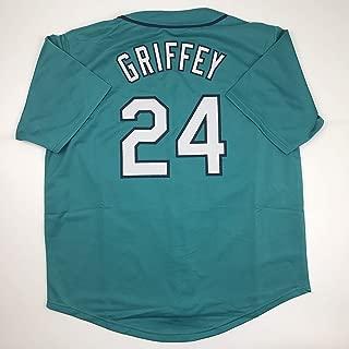 Unsigned Ken Griffey Jr. Seattle Teal Custom Stitched Baseball Jersey Size Men's XL New No Brands/Logos