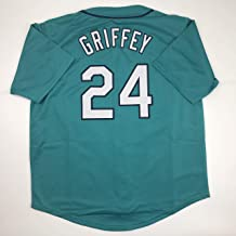 Unsigned Ken Griffey Jr. Seattle Teal Custom Stitched Baseball Jersey Size Men's XL New No Brands/Logos