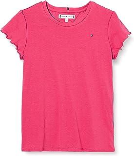 Tommy Hilfiger Essential Ruffle Sleeve Top S/S Camiseta para Niñas
