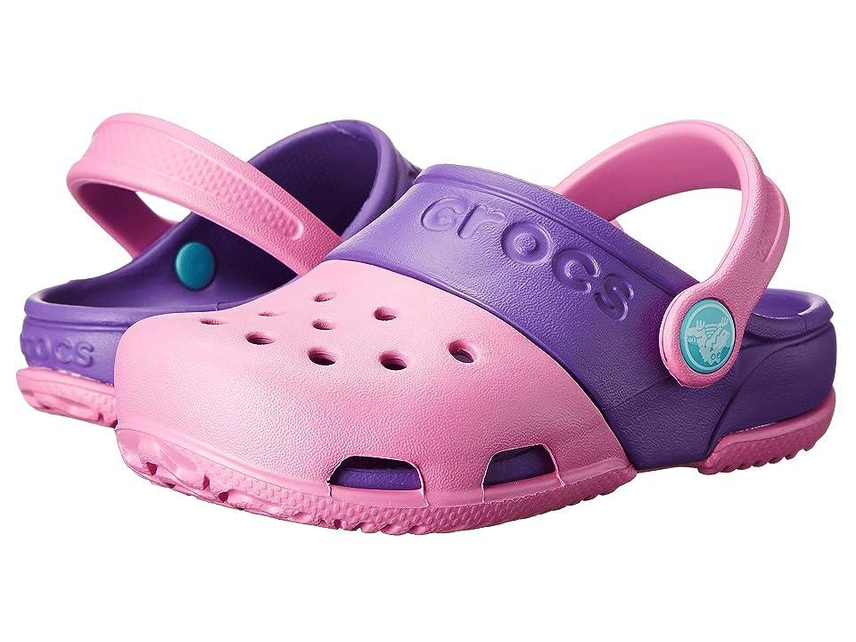 Crocs Kids Crocs Kids Electro II Clog (Toddler/Little Kid) (Party Pink/Neon Purple) Girls Shoes