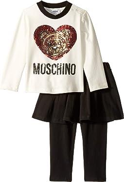 Moschino Kids - Sequin Teddy Bear T-Shirt & Leggings Set (Infant/Toddler)