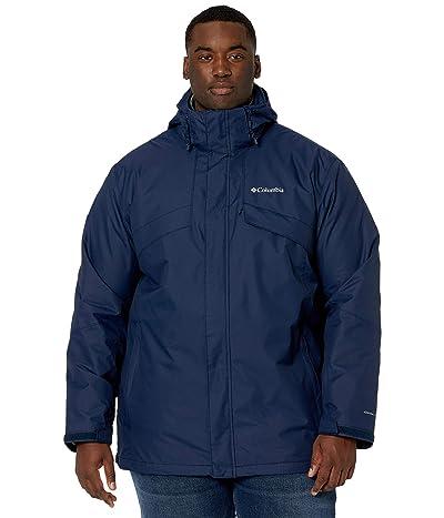Columbia Big Tall Bugaboo II Fleece Interchange Jacket (Collegiate Navy/Stone Green Check Print/Collegiate Navy) Men