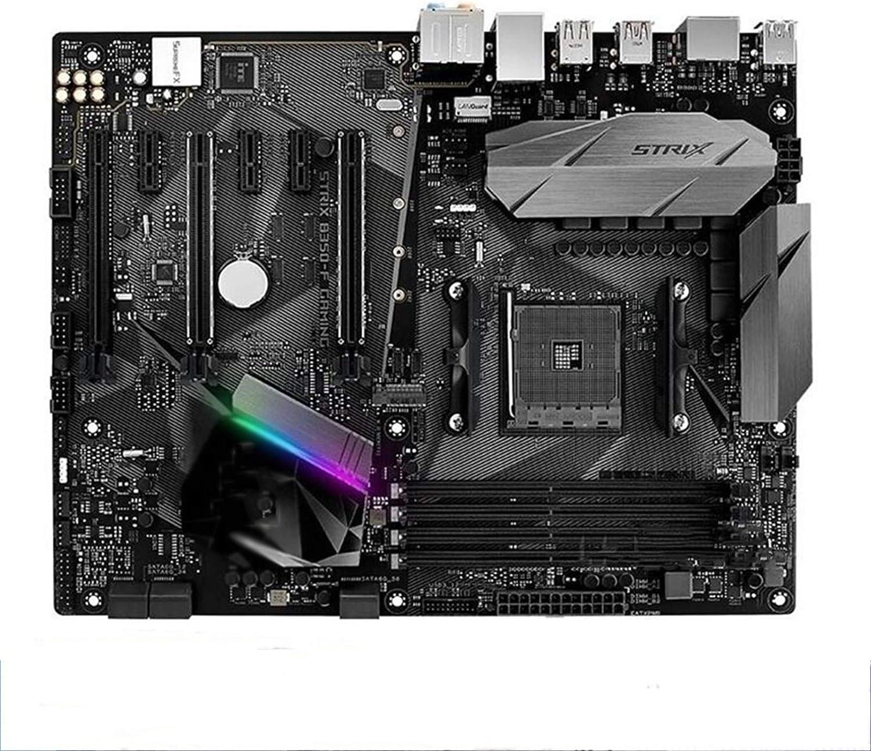 XCJ Placa Base Gaming ATX Placa Base ATX para Juegos Fit For ASUS ROG Strix B350-F, Toma De Placa Base para Juegos AM4 DDR4 para Placa Base De Escritorio Original AMD B350M B350 Placa Madre