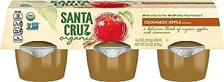 Santa Cruz Organic Cinnamon Apple Sauce, 6-4 Ounce Cups (Pack of 4)