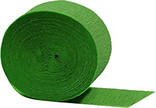 Lime Green Crepe Paper Streamers 6 Rolls, 435 feet Total, Made in USA