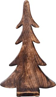 Creative Co-op Mango Wood Charred Finish Tree, Brown