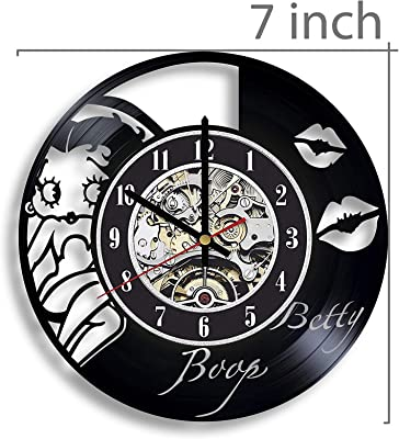 Betty Boop Vinyl Record Wall Clock, Betty Boop Movie, Betty Boop Artwork, Betty Boop Clock, Betty Boop Wall Decor, Betty Boop Gift, Betty Boop Art, Paramount Pictures