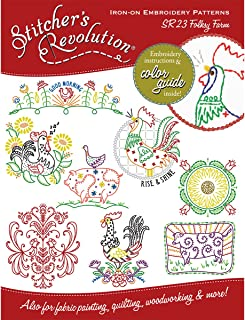 Stitcher's Revolution Folksy Farm Iron-On Transfer Pattern for Embroidery
