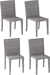CORLIVING PCL-264-C Brisbane Patio Dining Chairs, Blended Grey Weave