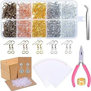 Earring Making Supplies, Paxcoo 1350pcs Earring Making Kit with Earring Hooks, Jump Rings, Pliers, Earring Backs, Earrings...