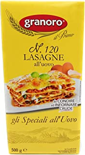 Granoro Lasagna Egg Noodles Number 120 - Imported from Italy Pack of 3 - 1.1 Pound Packages