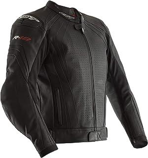 RST 2069 R-18 Mens Leather CE Approved Motorcycle Bike Jacket - Black 50