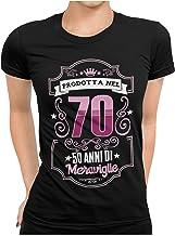 STAMPATEK Maglietta 50 Anni Compleanno Donna Tshirt Festa a Sorpresa Maglia Idea Regalo T-Shirt Divertente Maniche Corte
