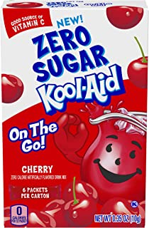 Kool-Aid On-The-Go Sugar-Free Cherry Powdered Soft Drink, 6 Packets