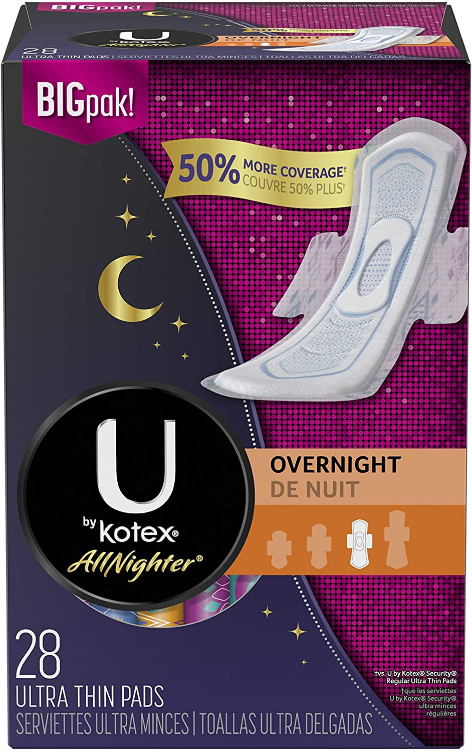 U by Kotex AllNighter Ultra Thin Unsc with Pads Wings Overnight 4 years Ranking TOP14 warranty