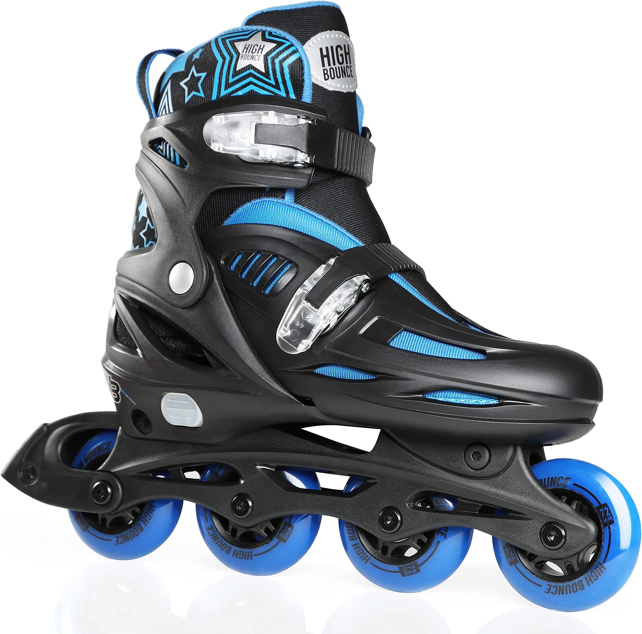 High Bounce Adjustable Inline Skates for Kids and Adults - Outdoor Roller Skates for Girls and Boys, Men and Women
