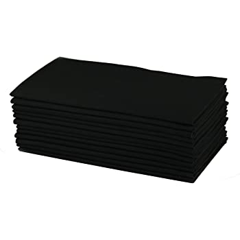 Cotton Craft - Dinner Napkins, 12 Pack Oversized Dinner Napkins 20x20 Black, 100% Cotton, Tailored with Mitered corners and a generous hem, Napkins are 38% larger than standard size napkins