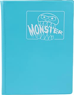 Monster Binder - 4 Pocket Trading Card Album - Matte Blue (Anti-Theft Pockets Hold 160+ Yugioh, Pokemon, Magic The Gatheri...