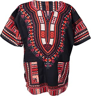 Traditional African Unisex Dashiki Shirt color Tribal Festival Hippie