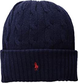 Wool Cashmere Classic Cable Cuff Hat