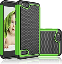 ZTE Blade Vantage Case, ZTE Tempo X/AVID 4 Case/ N9137 / Z839, Njjex [Nveins] Shock Absorbing Hybrid Dual Layers Rubber Plastic Shell Impact Defender Bumper Rugged Cover [Green] Compatible with ZTE