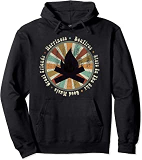 Bonfire, Stars, Good Music, Great Friends Distressed Pullover Hoodie