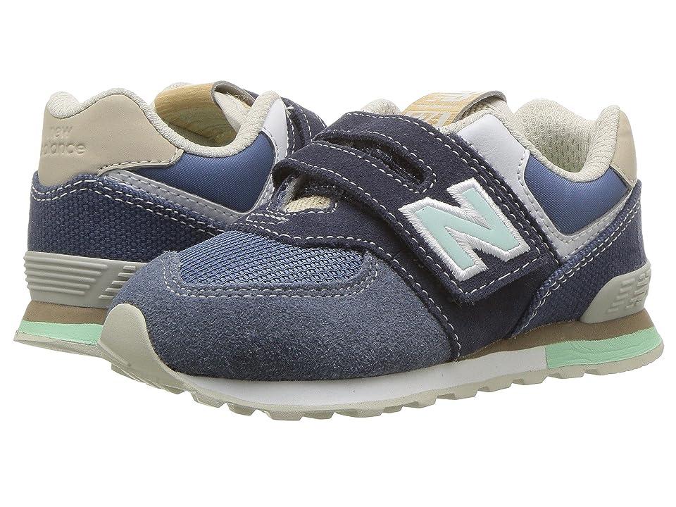 New Balance Kids IV574v1 (Infant/Toddler) (Navy/Vintage Indigo) Kids Shoes