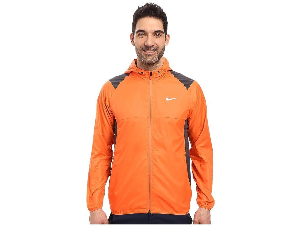 Nike Golf Printed Packable Hooded Jacket (Turf Orange/Reflective Silver) Men