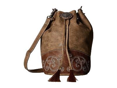 M&F Western Molly Bucket Bag (Brown) Handbags