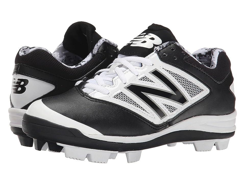 New Balance Kids J4040V3 Baseball (Little Kid/Big Kid) (Black/White) Kids Shoes