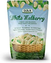 White Mulberry - Chewy and Delicious Dried Whole Mulberries 80 grams
