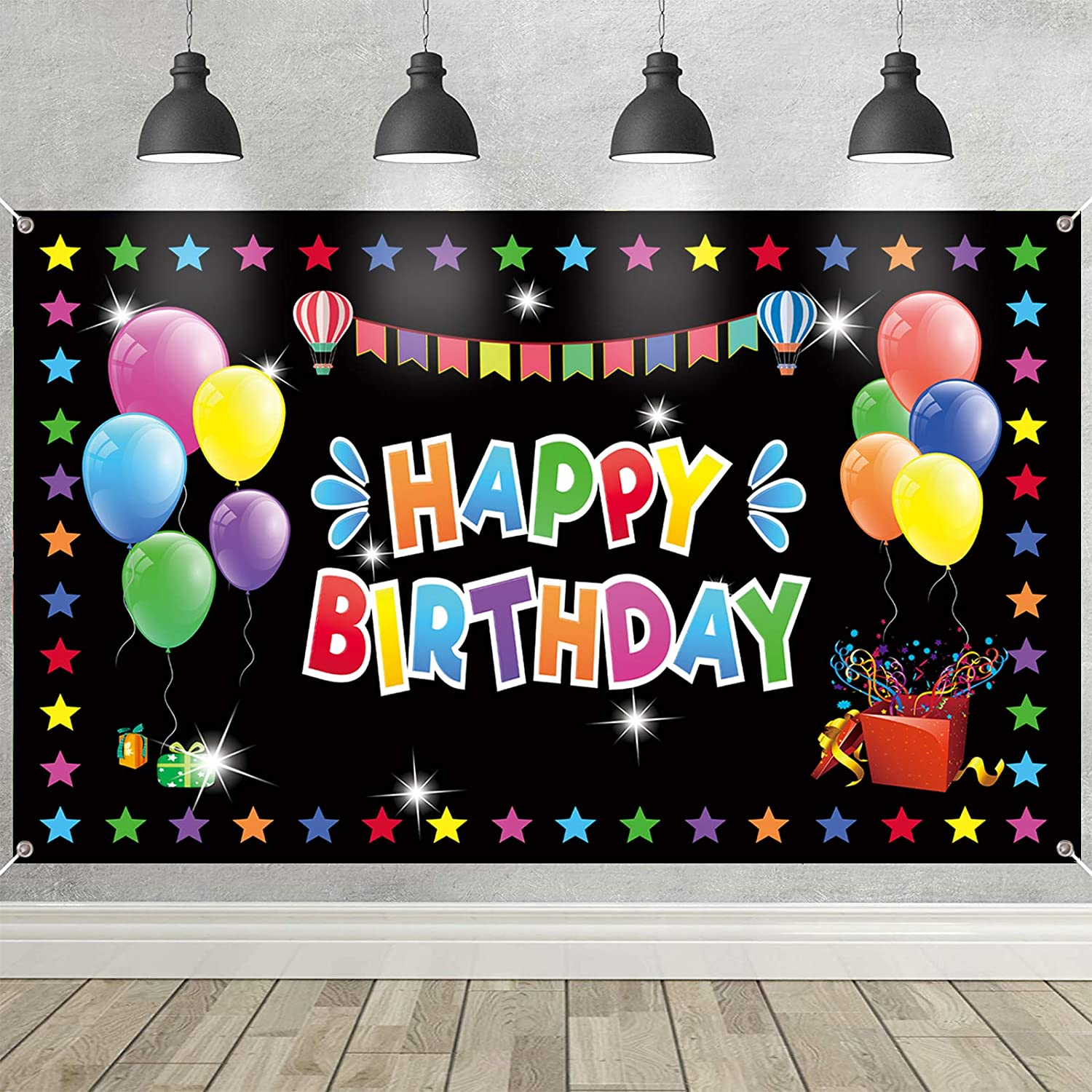 Happy Birthday Backdrop Colorado Springs Mall Banner Large New product Colorful Dec