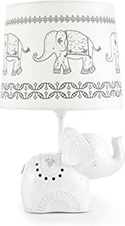 Levtex Home Baby Ely Elephant Lamp Base and Shade, Grey