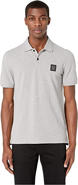 41a6fc714637 Luxury. Grey Melange. 1. BELSTAFF. Stannet Cotton Pique Polo Shirt