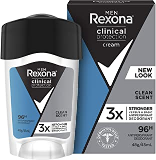 Rexona Men Clinical Protection Antiperspirant Deodorant Clean Scent, 45ml