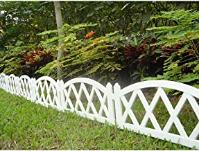 lattice fence garden border set
