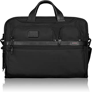 Alpha 2 Compact Large Screen Laptop Brief Briefcase - 17 Inch Computer Bag for Men and Women - Black