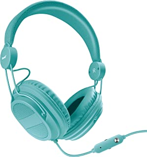 iSound DGHP-5537 Kid Friendly Headphones with Mic and Music Volume, Turquoise