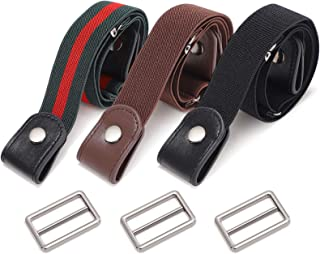 3 Pack Skinny Comfortable Adjustable Waist Belt forMen Jeans Shorts Pants Women Dress