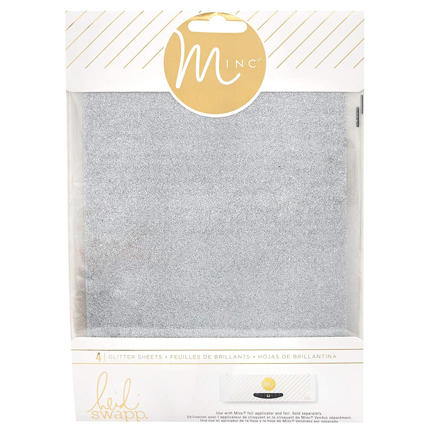 Heidi Swapp 314481 Glitter Sheets Silver