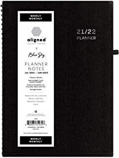 "$28 » Blue Sky Aligned 2021-2022 Academic Year Weekly & Monthly Notes Planner, 5.875"" x 8.625"", Heavyweight Cover, Wirebound, Bl..."