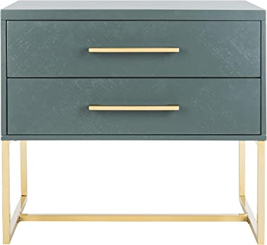 Safavieh Home Collection Estelle Nightstand, Teal