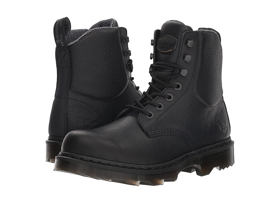 Dr. Martens Calshott NS (Black Industrial Bear/Black Soft Rubbery/Black Tex Suede WP) Boots