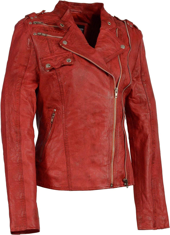 Milwaukee Leather Women's Double Zipper Asymmetrical Moto Jacket