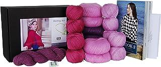 DesignEtte Kit de tricot fille sur feu, Rose/lavande, S/M