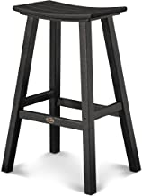 "product image for POLYWOOD 2002-BL Traditional 30"" Saddle Bar Stool, Black"
