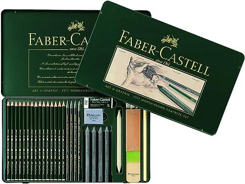 Faber-Castell 112966 - Set PITT Graphite, 29er Metalletui