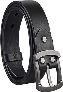 حزام جلدي مصنوع يدويًا للرجال من FIEEIF أحزمة جينز كاجوال غربية للرجال، صندوق هدايا أنيق