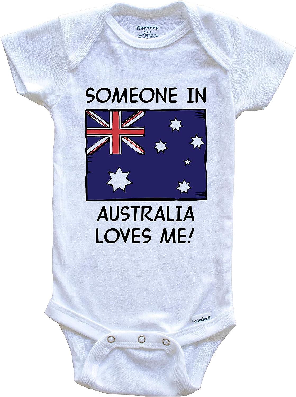 baby onesie Australia Baby Onesies\u00ae Australian Baby Bodysuit Australia Baby Giftbaby clothes Someone in Australia Loves me Onesies\u00ae